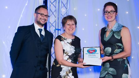 From Left: presenter Chris Vine from Price Bailey, Shelley Dodds and presenter Alice Marshall-Chalk
