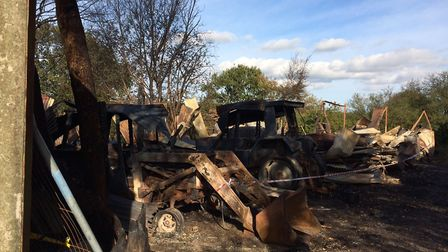 Barn fire in Hevingham. Pictures: David Bale