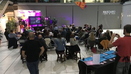 The event, which was part of the Norwich Science Festival, featured talks by local astronomers and T