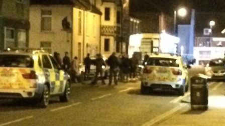 Emergency services, including armed police, were called to St Peter�s Road shortly after 9.30pm yest