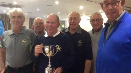 RAF Marham's winning team face the camera at The Links. Pictures from left to right are Terry Carve