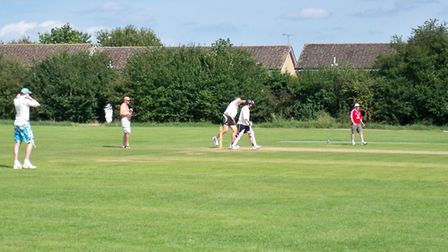 Action taking place on the Myers Playing Field in Swaffham. Picture: Courtesy of Eric Nye