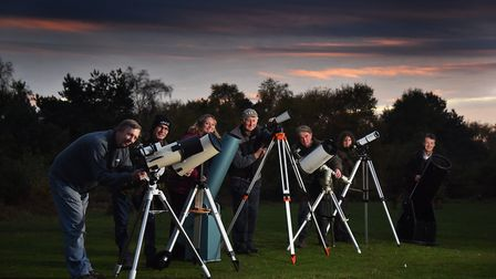 Opening of the Dark Skies Discovery Site at Kelling Heath Holiday Park. Left to right, Colin Hards,