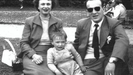 David Dungar as a child with his mother and father in the 1950s. Picture: David Dungar.