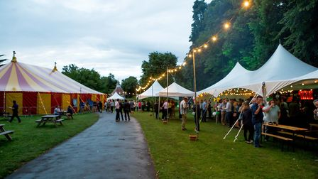 Laugh in the Park 2017 at Chapelfield Gardens. Photo: supplied by Red Card Comedy Club