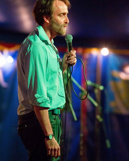 Laugh in the Park 2017 performer Tim FitzHigham. Photo: supplied by Red Card Comedy Club