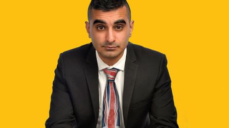 Tez Ilyas will be performing at The Red Card Comedy Club's 15th birthday show. Photo: supplied by R