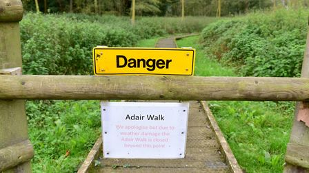 A campaign has been launched to repair the boardwalk at the Norfolk and Suffolk Aviation museum.Pic