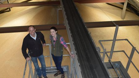 Yaregrain chairman Nick Hood and board member Sophie Young inside a renovated barn which has added 4