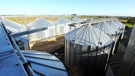 The storage silos at Yaregrain, near Cantley. Picture: James Bass