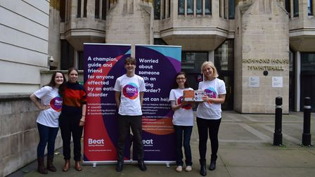Eating disorder charity Beat delivered a petition to Department of Health. Photo: Beat