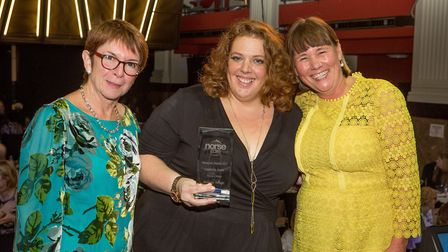 Nicola Cressey won the leadership award at Norse Care's annual ceremony. Picture: Lee Blanchflower