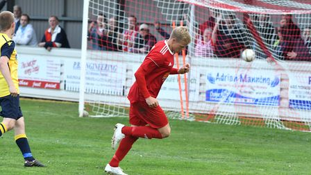 Michael Frew was on target in Wisbech's 3-0 win at St Andrews. Photo: IAN CARTER