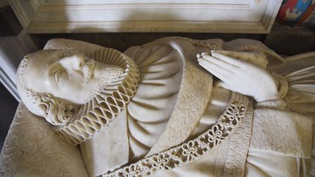 The tomb of Sir Edward Coke inside the church at Tittleshall. Picture: Ian Burt