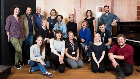 Hedda Gabler full cast of tour at first day of rehearsals. Photo: Alex Rumford