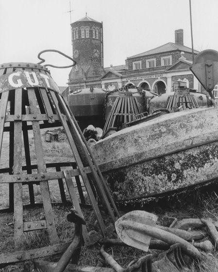 King's Lynn - Docks,Fleets and QuaysSome of the buoys recently acquired in 1982 by King's Lynn C