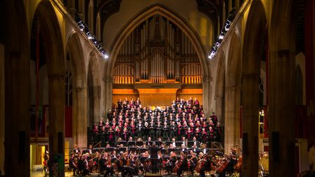 Norwich Philharmonic Orchestra and Chorus performing at a previous concert at St Andrews Hall in Nor