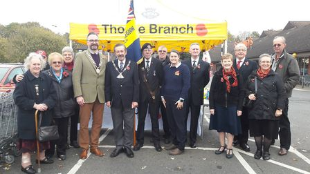 This year's Poppy Appeal has been launched in Thorpe St Andrew. Photo: Sainsbury's