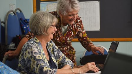 Norfolk WI digital workshop led by Mary Dorrell. Picture : ANTONY KELLY