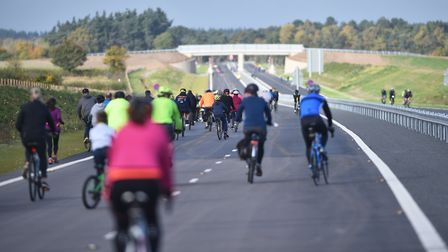 A stretch of the NDR was open to cyclists ahead of the opening to motorists.Picture: ANTONY KELLY