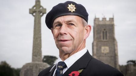 Jimmy Sturman is set to be the third generation of his family to carry the British Legion standard f