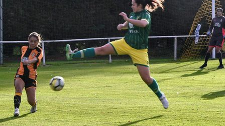 Norwich City's Charlotte Broad in action against Cambridge United. Picture: Brian Coombes