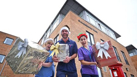 Send a Smile for Santa launch at Norfolk and Norwich University Hospital. Picture: ANTONY KELLY