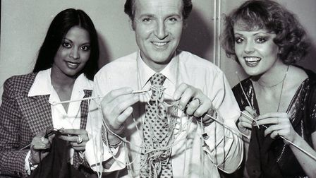 Nicholas Parsons, of Sale of the Century, making attempting to smash his own non-stop talking world