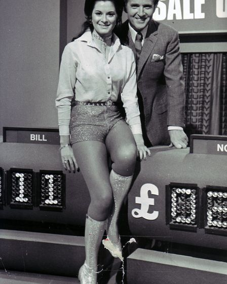 Nicholas Parsons on the set of Sale of the Century. Photo: Archant Library