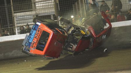 There were some massive Banger wrecks at King's Lynn. Picture: Damien Windows