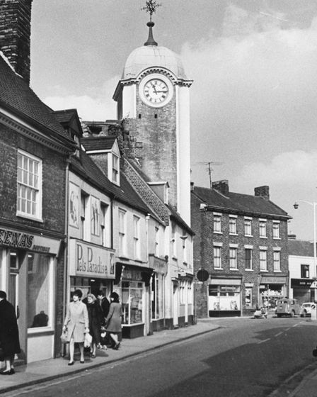 Tower Street in the 1960s, showing the Majestic's clock tower. Picture: Archant library