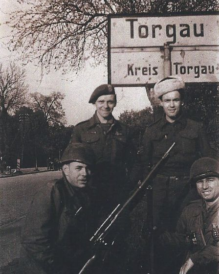 The escaped prisoners at Torgau