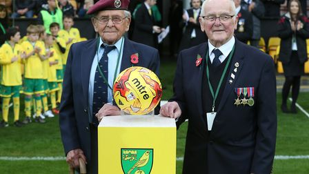 """World War Two veterans Jack Griffiths and Francis """"Robbie"""" Burns are the Community heroes and bring"""