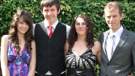 New collect pictures of jamie Butcher and his family. Picture shows From left to right Jamie's siste