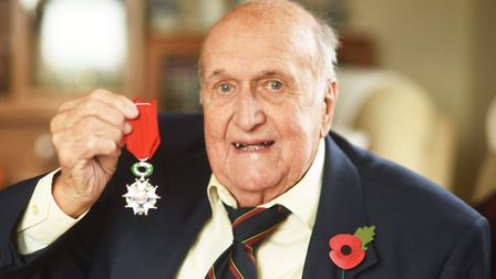 D-Day veteran Roland Worth has been awarded the legion D'Honneur. Picture: Ian Burt