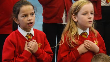 Children at Valley Primary School rehearse their opera, The Barber of Seville, for the Theatre Royal