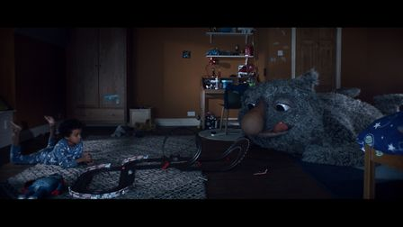 Still from the eagerly anticipated John Lewis Christmas campaign which features a young boy and his