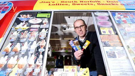 Craig Trickett from Jim's Ice Creams will be collecting money for Children In Need.Picture: Nick Bu