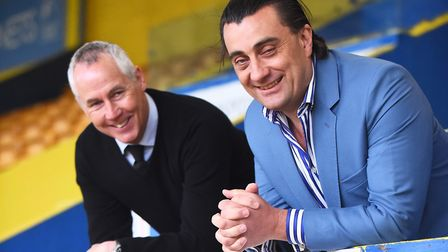 Linnets manager Ian Culverhouse and club chairman Stephen Cleeve, right. Picture: Ian Burt