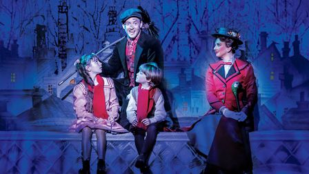 Mary Poppins came to Norwich Theatre Royal in summer 2016. Pictured performing Chim Chim Cher-ee is