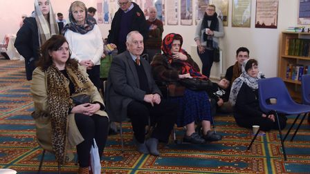 Visitors at the Islamic Centre Mosque open day. Picture: DENISE BRADLEY