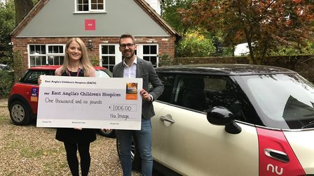 Sophie Mayes, East Anglia's Children's Hospices Norfolk corporate fundraiser, and Ian Howes, founder
