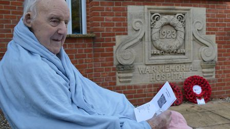 Army veteran Stanley Puddifoot, 100, was among those marking Armistice Day at North Walsham War Memo