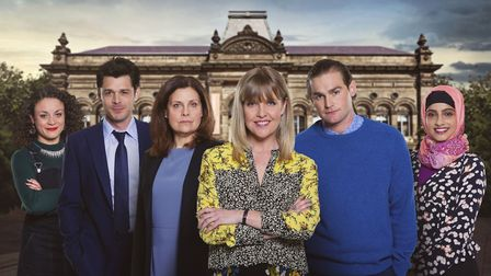 The cast of Love, Lies & Records (c) BBC