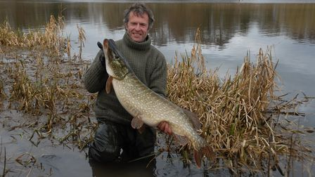 John Bailey with another Christmas gift, a fabulous pike from years ago. Picture: John Bailey