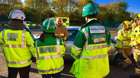 Volunteer paramedics, doctors and nurses took part in a special training exercise organised by Norfo