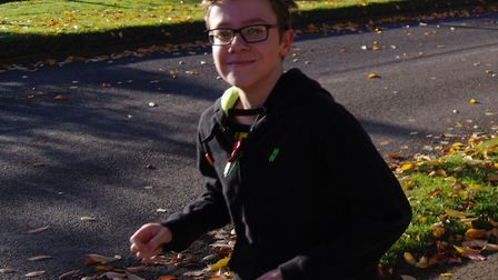 Louis Hedge, 12, embarked on a fundraising run for Children in Need. Picture: HAYLEY BRISTOW