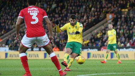 Nelson Oliveira was back in the side against Barnsley after his fitness issues. Picture: Paul Cheste
