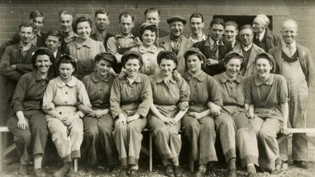 King's Lynn Workers from Cooper Roller Bearings Ltd WW2. Photo: Norfolk County Council www.picture.n