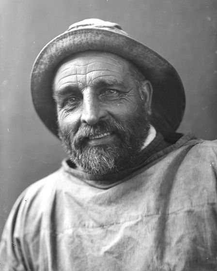 Lotion Tar Bishop a studio portrait of the fisherman. Photo: Olive Edis/Norfolk County Council www.p